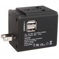 Incarcator retea Serioux SRXA-158 AC 2x USB negru