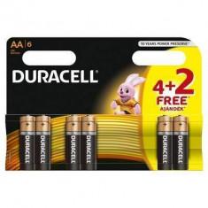 Baterie Duracell Basic AA LR06 4+2 gratis - Baterie Aparat foto Duracell, Tip AA (R6)