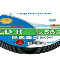 Mediu optic Esperanza CD-R Soft Pack 10 700MB 52x Silver - CD Blank