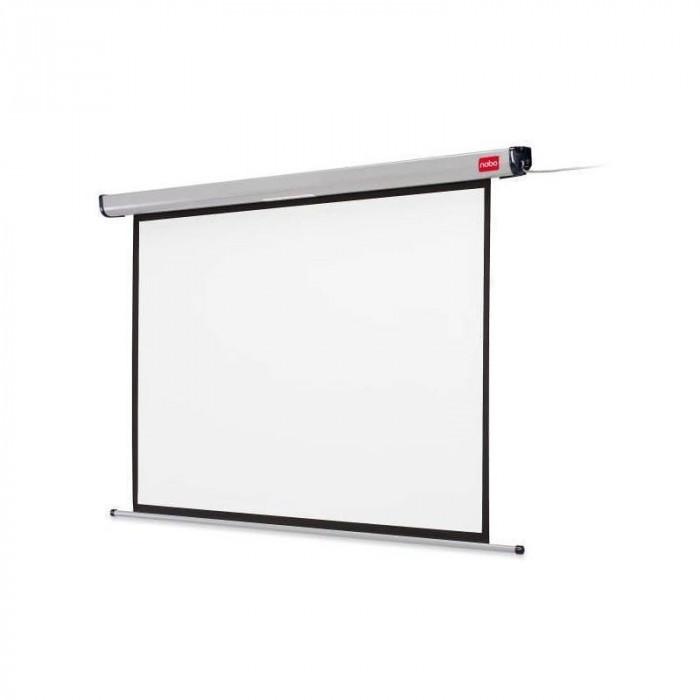 Ecran de proiectie NOBO pe perete 200 x 135 cm format 16:10 alb mat foto mare