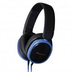 Casti Panasonic RP-HX250E-A blue, Casti On Ear, Cu fir, Mufa 3, 5mm