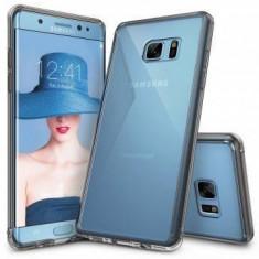 Husa Protectie Spate Ringke Fusion Smoke Black Samsung Galaxy Note 7 plus folie Invisible Screen Defender - Husa Telefon Ringke, Gel TPU