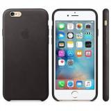 Husa Protectie Spate Apple Leather Case Black pentru iPhone 6s plus - Husa Telefon