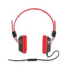 Casti Modecom MC-400 Circuit Red, Casti On Ear, Cu fir, Mufa 3, 5mm