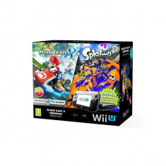 Consola Nintendo Wii U Premium cu joc Mario Kart 8 si Splatoon