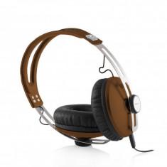 Casti Modecom One Brown, Casti Over Ear, Cu fir, Mufa 3, 5mm