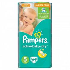Scutece PAMPERS Active Baby 5 Giant Pack 64 buc - Scutece unica folosinta copii