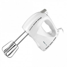 Mixer de mana Philips HR1459/00 Daily Collection 300W 5 viteze Alb - Mixer Bucatarie Philips, Numar viteze: 5