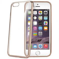 Husa Protectie Spate Celly BCLIP6SPGD Laser Gold pentru iPhone 6s Plus - Husa Telefon