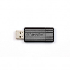 Memorie USB Verbatim PinStripe 32GB USB 2.0 Black, 32 GB