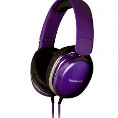 Casti Panasonic RP-HX350E-V Violet, Casti On Ear, Cu fir, Mufa 3, 5mm, Active Noise Cancelling
