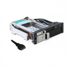 Rack HDD Delock Mobile Rack 2.5 inch 3.5 inch SATA USB 3.0 Black