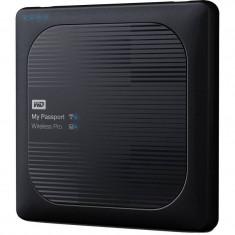 Hard disk extern WD My Passport Wireless Pro 1TB 2.5 inch USB 3.0 Black - HDD extern Western Digital, 1-1.9 TB