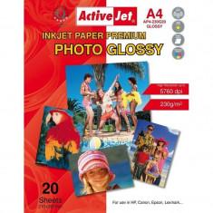 Hartie foto ActiveJet A4 Premium Glossy 230g - Hartie foto imprimanta