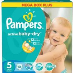 Scutece PAMPERS Active Baby 5 Junior Mega Box Plus 126 buc - Scutece unica folosinta copii
