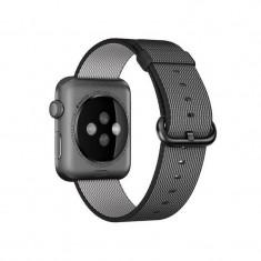 Curea smartwatch Apple Watch 42mm Black Woven Nylon
