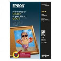 Consumabil Epson Hartie foto GLOSSY A4 20 SHEETS - Hartie foto imprimanta