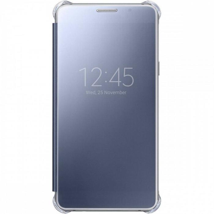 Husa Flip Cover Samsung Clear Cover Black pentru Galaxy A5 2016 foto mare