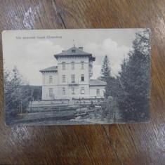Vila pictorului Grand Campulung, carte postala ilustrata