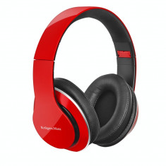Casti Kruger&Matz Street 2 Power Bass Red, Casti On Ear, Cu fir, Mufa 3, 5mm, Active Noise Cancelling
