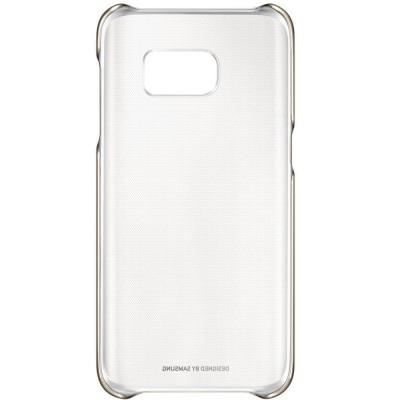 Capac protectie spate Samsung Clear Cover pentru Galaxy S7 G930 Auriu foto
