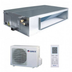 Aparat de aer conditionat tip duct Gree GFH12K3FI-GUHD12NK3FO Inverter 12000BTU Alb