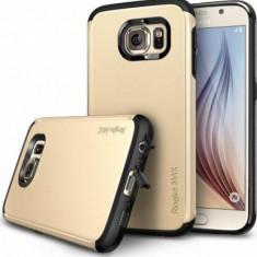 Husa Protectie Spate Ringke Armor Max Royal Gold plus folie protectie pentru Samsung Galaxy S6 - Husa Telefon
