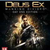 Joc consola Square Enix Ltd DEUS EX MANKIND DIVIDED DAY ONE EDITION pentru PS4 - Jocuri PS4