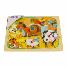 Puzzle din lemn MomKi Animale domestice 6 piese