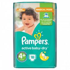 Scutece PAMPERS Active Baby 4+ Regular Pack 18 buc - Scutece unica folosinta copii