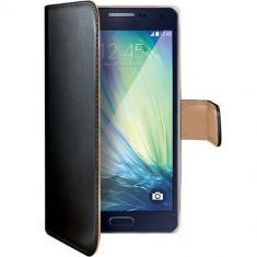 Husa Flip Cover Celly WALLY452 Agenda Negru pentru Samsung Galaxy A3 - Husa Telefon