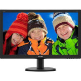 Monitor LED Philips 240V5QDSB/00 23.8 inch 5ms Black, 23 inch