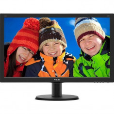 Monitor LED Philips 240V5QDSB/00 23.8 inch 5ms Black