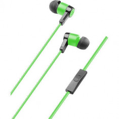 Casti Cu Fir Cellularline In Ear 3.5 mm Verde Sony, Casti In Ear, Mufa 3, 5mm