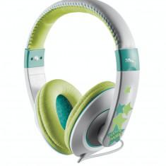 Casti Trust Sonin Kids Grey / Green, Casti Over Ear, Cu fir, Mufa 3, 5mm
