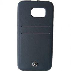 Husa Protectie Spate Mercedes MEHCS6PLBK Pure Line Card Slots Negru pentru SAMSUNG Galaxy S6 - Husa Telefon