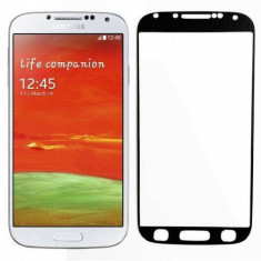 Folie protectie sticla securizata Tempered Glass Black aluminium pentru Samsung Galaxy S4