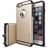 Husa Protectie Spate Ringke Armor Max Royal Gold plus folie protectie pentru Apple iPhone 6 Plus