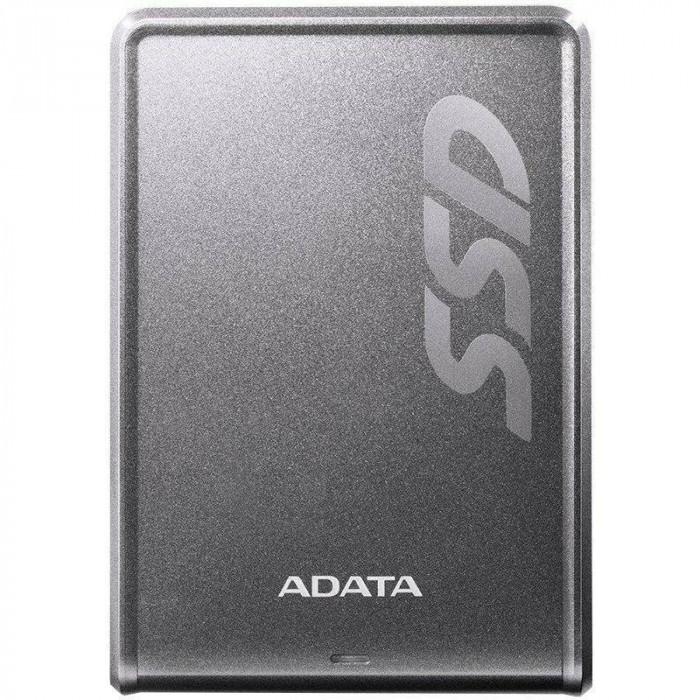 SSD Extern ADATA SV620H 256GB USB 3.0 Titanium foto mare