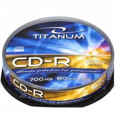 Mediu optic Esperanza CD-R TITANUM 700MB 52x cake box 10 bucati - CD Blank