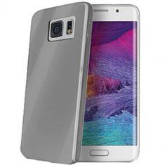 Husa Protectie Spate Celly THINS6ESM Ultrathin gri pentru Samsung Galaxy S6 Edge - Husa Telefon Celly, Plastic, Carcasa