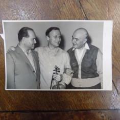 Yehudi Menuhin, David Oistrakh, George Georgescu, fotografie originala - Harta Europei