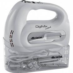 Mixer de mana Ariete 1568 DigiMix Metal 300W 16 viteze alb