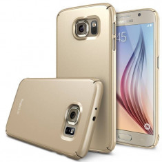 Husa Protectie Spate Ringke Slim Royal Gold plus folie protectie pentru Samsung Galaxy S6 - Husa Telefon Ringke, Plastic, Carcasa
