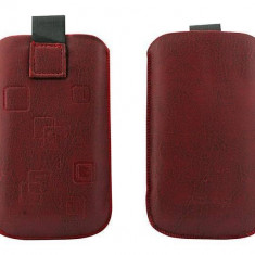 Toc OEM TSAPPIPH4ROS Slim rosu pentru iPhone 4 / Samsung Ace / Nokia E5 - Husa Telefon Oem, Vinyl