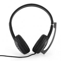 Casti Modecom Over-Head MC-816 Black, Casti Over Ear, Cu fir, Mufa 3, 5mm