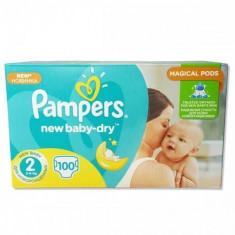 Scutece PAMPERS New Baby 2 Giant Pack 100 buc - Scutece unica folosinta copii