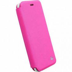 Husa Flip Cover Krusell 75901 Malmo Pink pentru Apple iPhone 6 / 6S - Husa Telefon Krusell, Piele Ecologica, Cu clapeta
