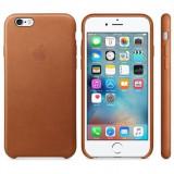 Husa Protectie Spate Apple Leather Case Maron Saddle pentru tiPhone 6s - Husa Telefon