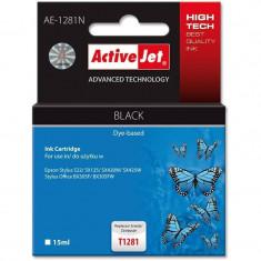 Consumabil ActiveJet Cartus T1281 black compatibil Epson C13T12814010 - Cartus imprimanta